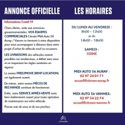 ANNONCE OFFICIELLE - CONFINEMENT