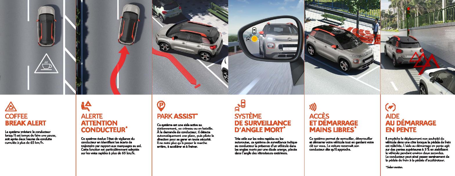 Citroën C3 Aircross les aides à la conduite (suite)